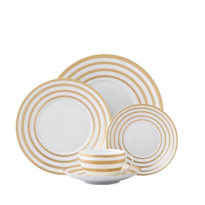 JL Coquet - Hemisphere Dinnerware, Gold Stripes