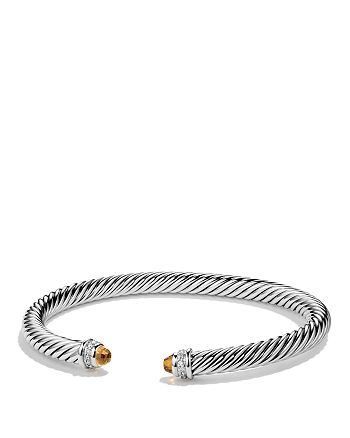 David Yurman - Cable Classics Bracelet with Citrine & Diamonds