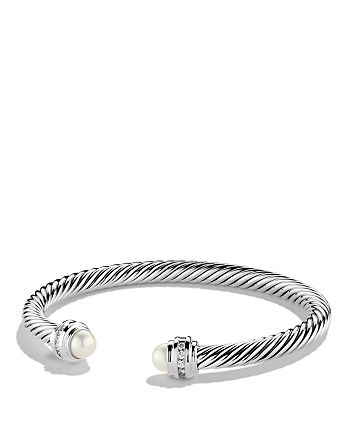 David Yurman - Cable Classics Bracelet with Pearl & Diamonds