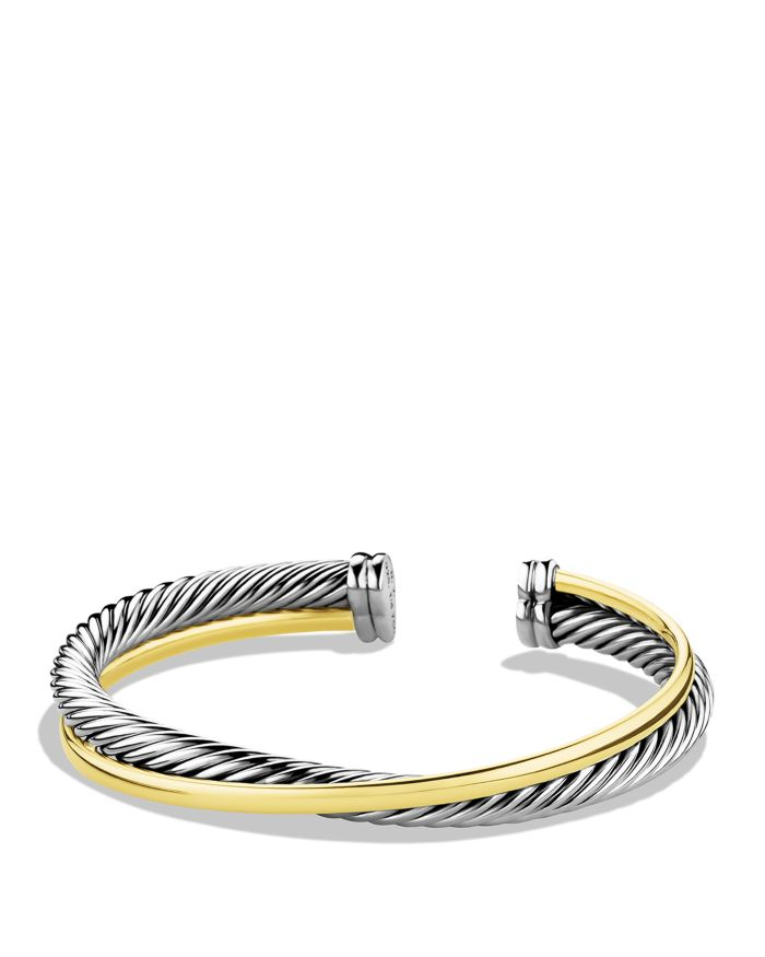 David Yurman Crossover Cuff with Gold    Bloomingdale's
