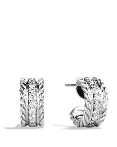 David Yurman - Cable Classics Extra Small Earrings with Diamonds