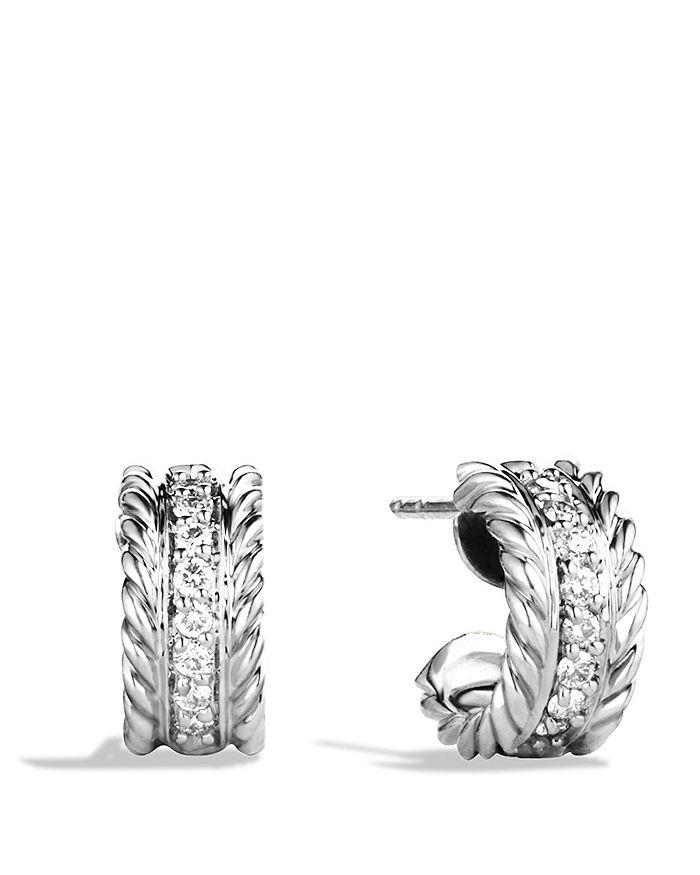 David Yurman - Cable Classics Earrings with Diamonds