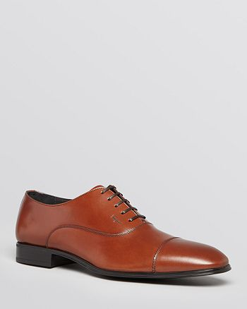 Salvatore Ferragamo - Remigio Leather Cap Toe Oxfords