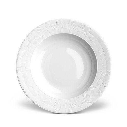 L'Objet - Byzanteum Blanc Soup Plate