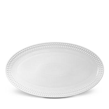 L'Objet - Perlee White Oval Platter