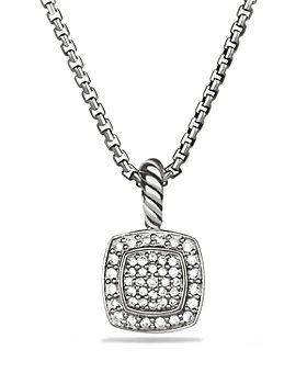 David Yurman - Petite Albion Pendant with Diamonds on Chain