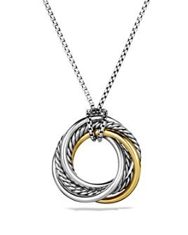 David Yurman - Crossover Small Pendant with Gold on Chain