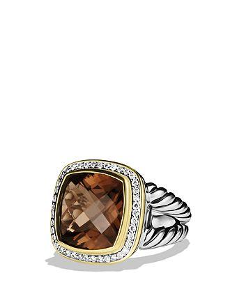 David Yurman - Albion Ring with Smoky Quartz, Diamonds, and Gold