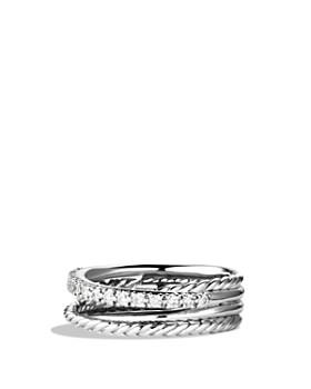 David Yurman - Crossover Ring with Diamonds