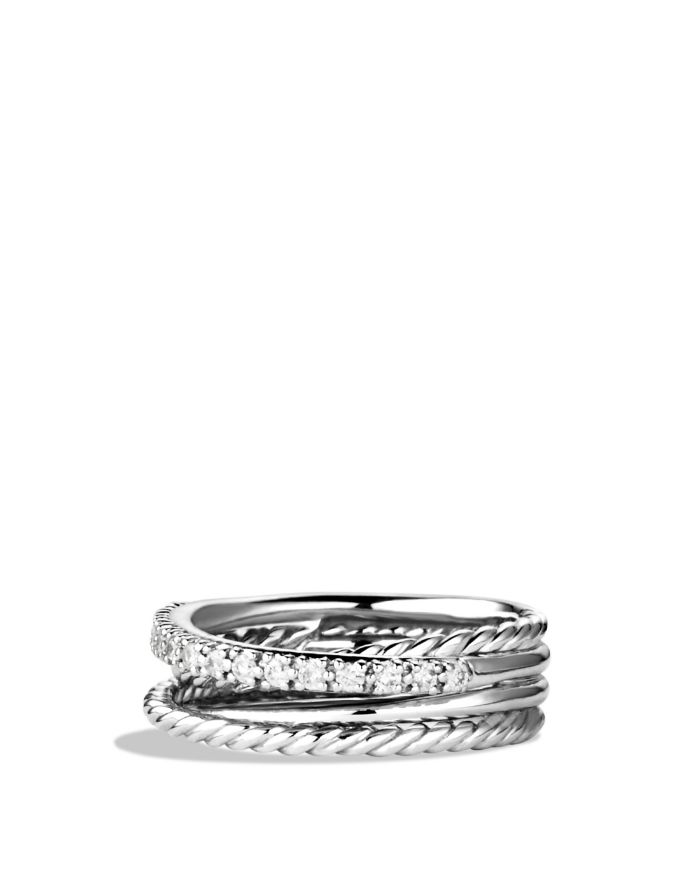 David Yurman Crossover Ring with Diamonds  | Bloomingdale's