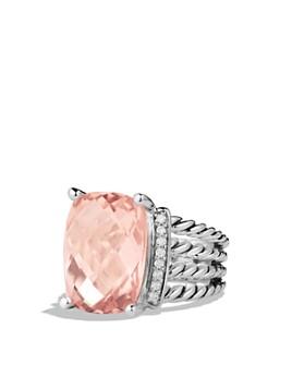 David Yurman - Sterling Silver Wheaton Ring with Gemstones & Diamonds