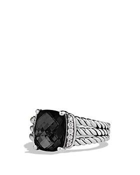 David Yurman - Petite Wheaton® Ring with Black Onyx and Diamonds