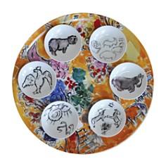 Bernardaud - Bernardaud Marc Chagall Joseph Tribe Seder Platter & Dishes, Set of 6