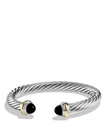 David Yurman - Cable Classics Bracelet with Black Onyx & Gold