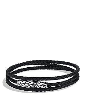 David Yurman - Chevron Triple Wrap Bracelet in Black