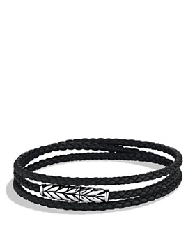 David Yurman - Chevron Triple-Wrap Bracelet in Black