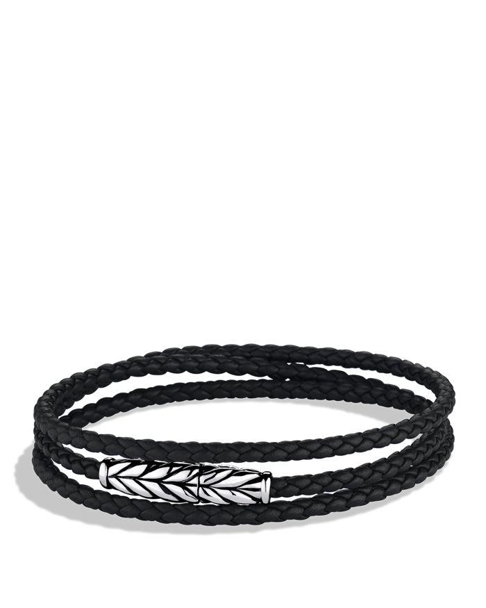 David Yurman Chevron Triple Wrap Bracelet  | Bloomingdale's