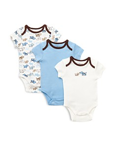 Little Me - Boys' Cute Puppies Bodysuit, 3 Pack - Baby