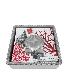 Mariposa - Scallop Shell Napkin Box