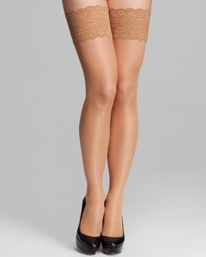 Wolford Satin Touch Stay-Up Tights