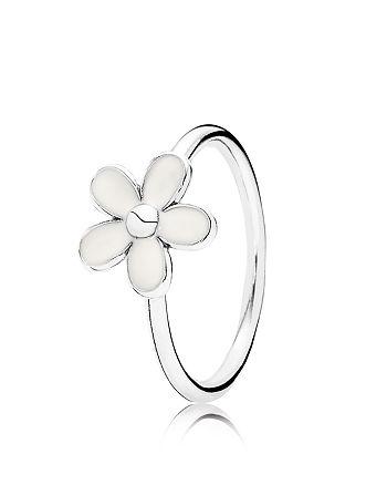 Pandora - Sterling Silver & Enamel Darling Daisy Ring