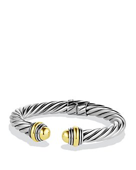 David Yurman - Cable Classics Bracelet with Gold Domes