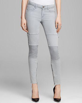 PAIGE - Demi Ultra Skinny Jeans in Montauk Grey