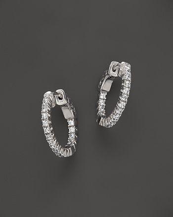 Bloomingdale's - Diamond Inside Out Hoop Earrings in 14K White Gold, .75 ct. t.w.- 100% Exclusive