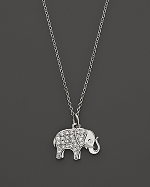 Click here for Kc Designs Diamond Elephant Pendant in 14K White G... prices