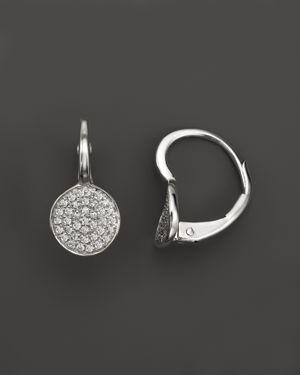 Kc Designs Diamond Disk Drop Earrings in 14K White Gold, .22 ct. t.w.