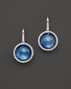 Roberto Coin 18K White Gold Fantasia Blue Topaz, Lapis and Mother-of-Pearl Triplet Cocktail Earrings with Diamonds - Bloomingdale's_0