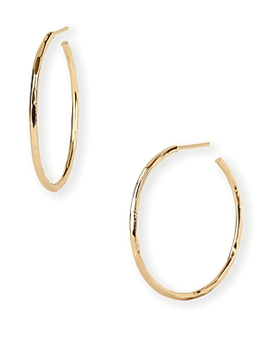 Argento Vivo Hammered Wire Hoop Earrings