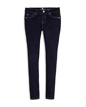 7 For All Mankind Girls' Dark Indigo Skinny Jeans - Big Kid