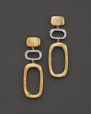 Marco Bicego Murano 18K Yellow Gold Drop Earrings with Diamonds