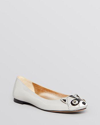 kate spade new york - Ballet Flats - Jiro Racoon-Face Embellishment
