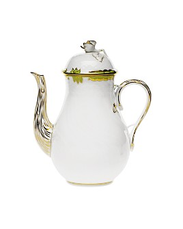 Herend - Princess Victoria Green Coffee Pot