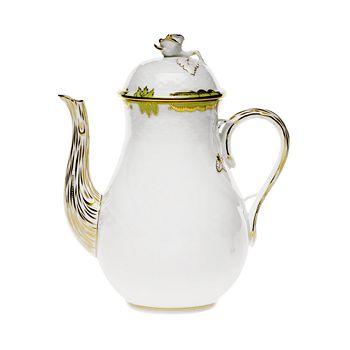 Herend - Princess Victoria Green Coffee Pot