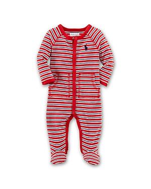 Ralph Lauren Childrenswear Boys' Interlock Stripe Footie - Baby