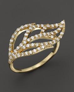 KC Designs Diamond Leaf Ring in 14K Yellow Gold - Bloomingdale's_0