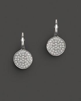 KC Designs - KC Designs Diamond Disk Drop Earrings in 14K White Gold, .22 ct. t.w.