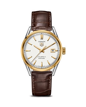 Tag Heuer Carrera Calibre 5 Automatic Stainless Steel and 18K Yellow Gold Watch, 39mm