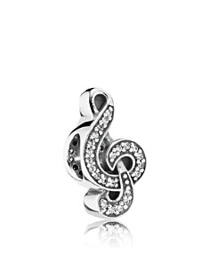 PANDORA Moments Collection Sterling Silver & Cubic Zirconia Sweet Music Charm - Bloomingdale's_0