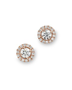Diamond Halo Studs in 14K Rose Gold, .30 ct. t.w. - 100% Exclusive - Bloomingdale's_0