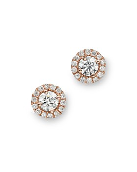 Bloomingdale's - Diamond Halo Studs in 14K Rose Gold, .30 ct. t.w. - 100% Exclusive