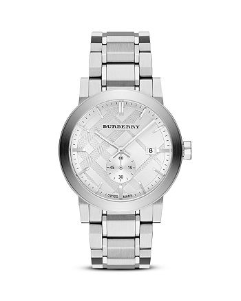 Burberry - Sub-Eye Check Stamped Watch, 42mm