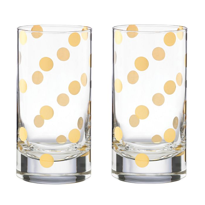 kate spade new york - Pearl Place Highball Glass, Set of 2