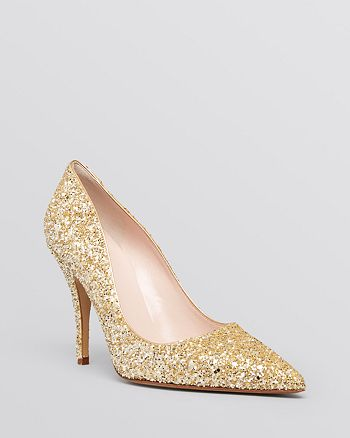 kate spade new york - Pointed Toe Evening Pumps - Licorice High-Heel
