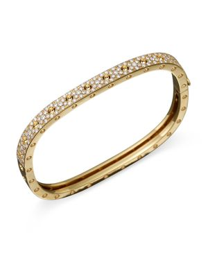 Roberto Coin 18K Yellow Gold and Diamond Pois Moi Single Bangle, 1.35 ct. t.w.