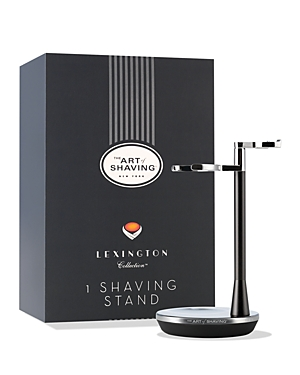 The Art of Shaving Lexington Collection Razor & Brush Stand is a sophisticated and functional way to display your Lexington razor along with a shaving brush. Features a streamlined, rounded design that perfectly complements the Lexington Collection Razor with distinctive black satin and chrome-plated finishes. The rubberized base assists stability and helps minimize movement. The Lexington Collection Razor and Brush Stand helps extend the life of the shaving brush by allowing it to properly dry.