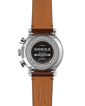 Shinola - The Runwell Dark Brown Leather Strap Chronograph Watch, 41mm